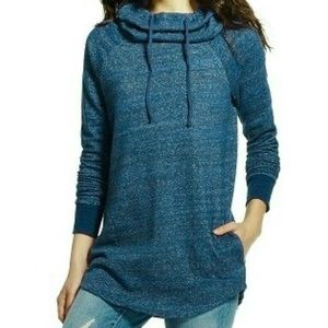5/$25 Mossimo Blue Knit Cowl Hooded Pullover